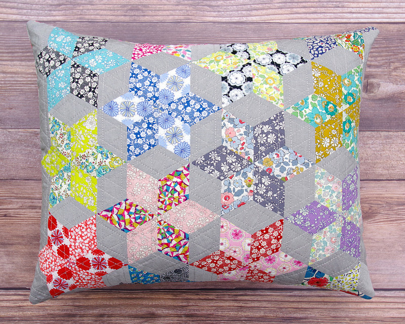 Liberty Tana Lawn Star Cushion - English Paper Piecing | © Red Pepper Quilts 2017