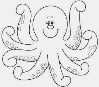 Desenhos De Animais Marinhos Para Colorir Alfabetizei