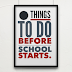 Ten Things To Do Before School Starts