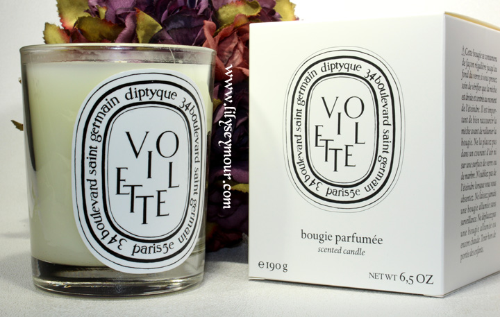 Diptyque Candles in Violette