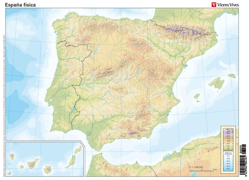 Mapa Mudo Politico De España Para Imprimir Tamaño Folio.Mapa Fisico De Espana Mudo Para Imprimir Tamano Folio Mapa