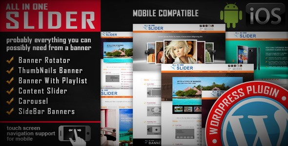 All In One Slider v3.6 - Responsive WordPress Slider Plugin Full