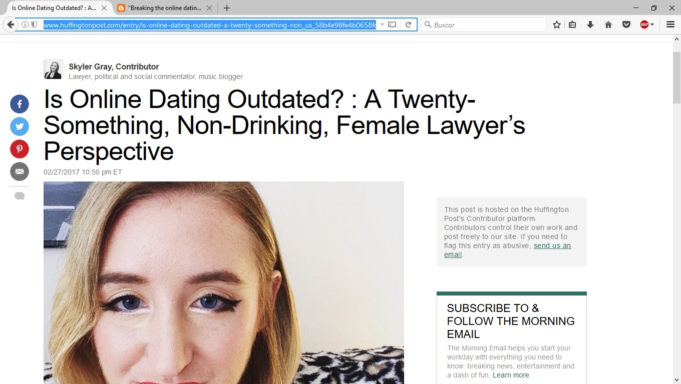 Online dating huffington post