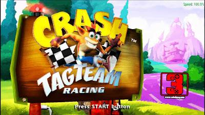 تحميل لعبة crash tag team racing للأندرويد محاكي PSP برابط