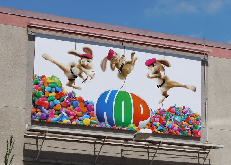 Hop karate bunnies billboard