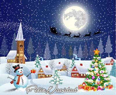 Imagen de Navidad con mensaje para compartir