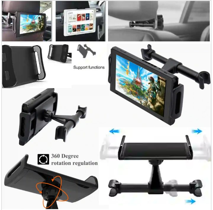 Fyoung Car Headrest Phone Holder - Adjustable and Rotatable Mount for Mobile Gadgets
