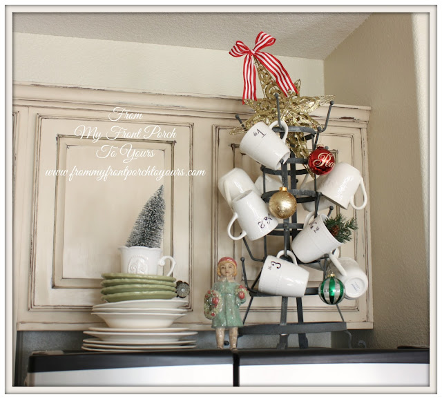 French Farmhouse - French Country-Christmas Vignette-From My Front Porch To Yours