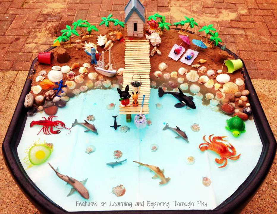 Learning And Exploring Through Play Seaside Small World Tuff Tray
