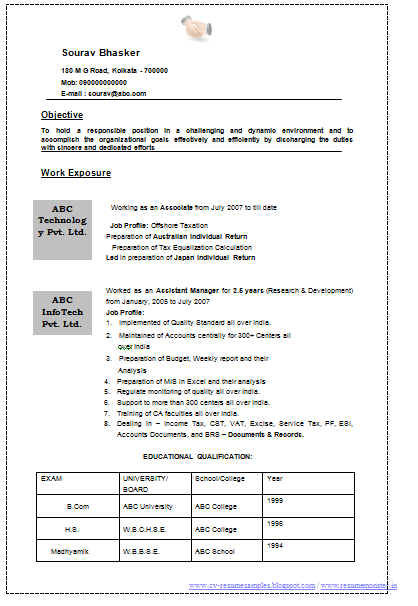 Resume Accountant Template