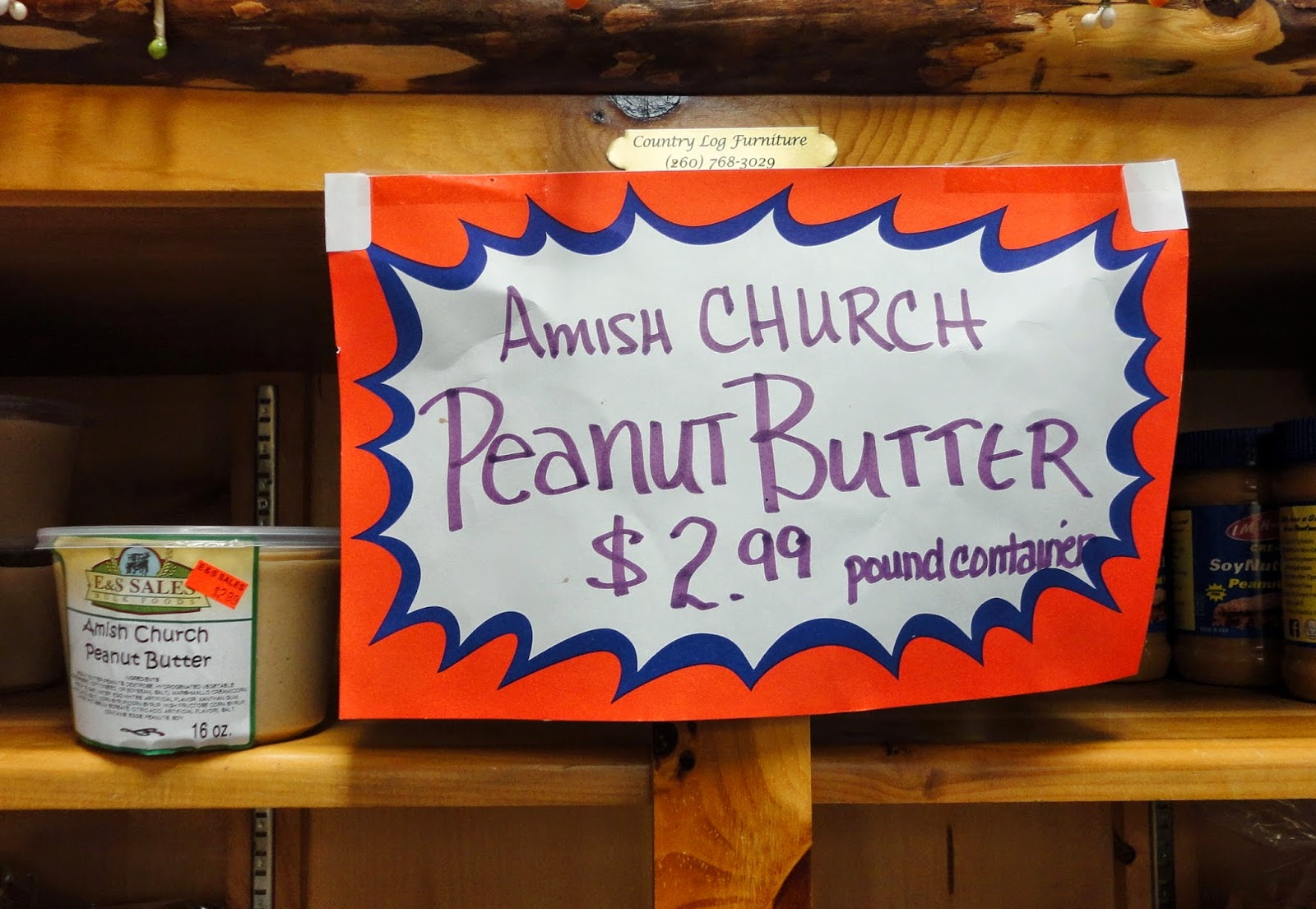 My Amish Indiana Amish Peanut Butter