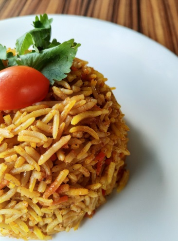 Curried Brown Rice and Tomatoes