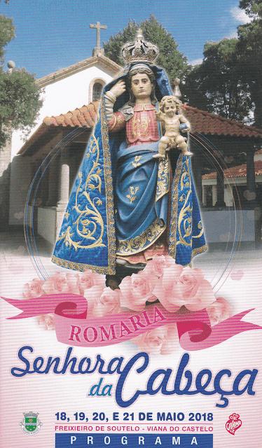 Cartaz da Romaria da Sra da Cabeça 2018 em Freixieiro de Soutelo