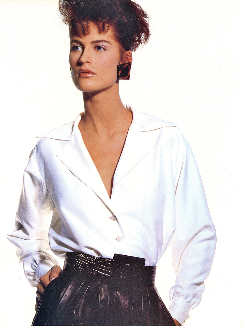 Yves Saint Laurent in Vogue US June 1986 via www.fashionedbylove.co.uk