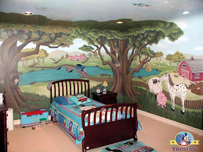 Train Bedroom Ideas Tank Thomas Bed Sheet Sets Toddler Decor