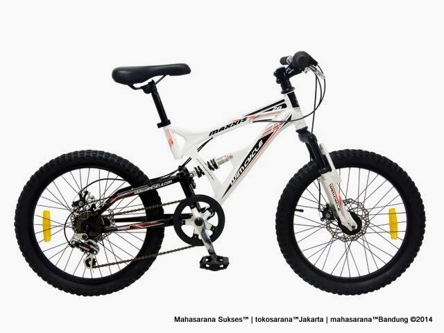 Sepeda Gunung Remaja Maxxis DX Full Suspension Rem Cakram 7 Speed 20 Inci