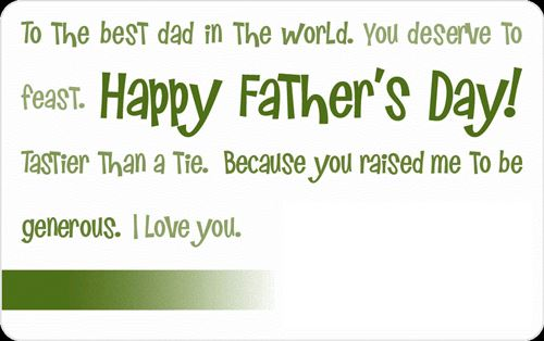 Famous Father's Day Greeting Card Messages