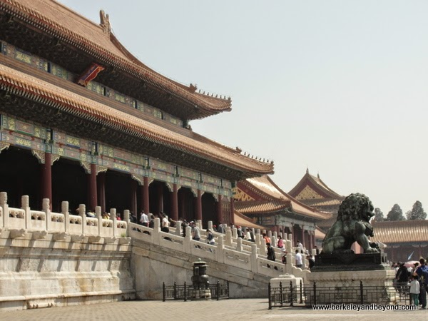 interior courtyard at Forbidden City in Beijing, China