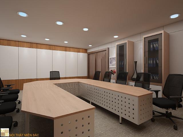 Sử dụng vách ngăn veneer cho thiết kế phòng họp tạo không gian sự sang trọng và hiện đại đảm bảo nét đẹp tự nhiên nhất