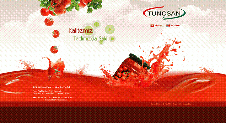 Türkiye'deki domates salçası ve biber salçası üreticileri ve ihracatçıları.-Tunçsan Firması
