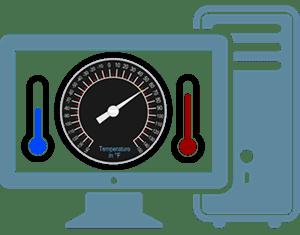 قياس حرارة الكمبيوتر