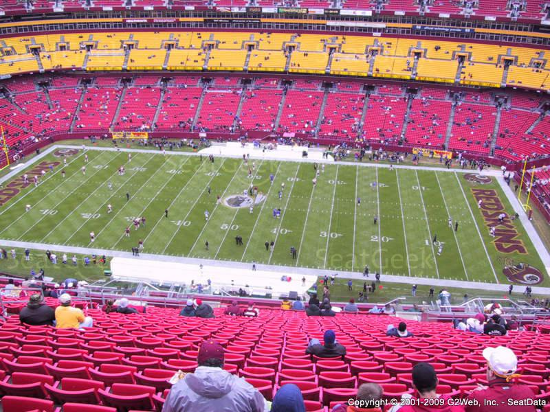 Washington Redskins Seating Chart & Interactive Map SeatGeek - fedex field seating chart