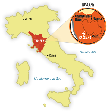 Chianti Region Italy Map.The World Of Wine Review Italy Unit 9 Tuscany