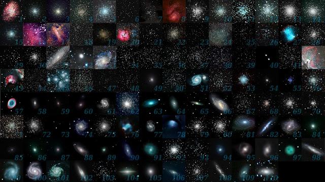 Tất cả hình ảnh của 110 thiên thể Messier. Hình ảnh: Michael A. Phillips.