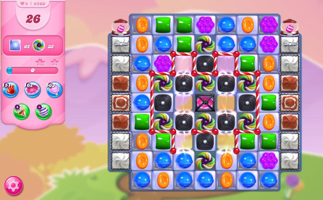 Candy Crush Saga level 6200