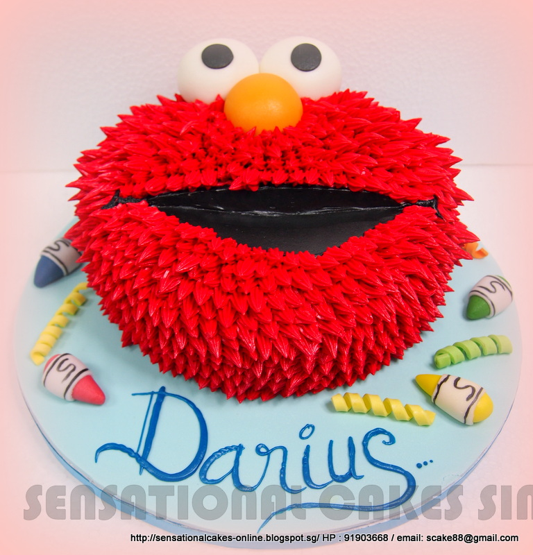 The Sensational Cakes Elmo Cream Face Cake Singapore