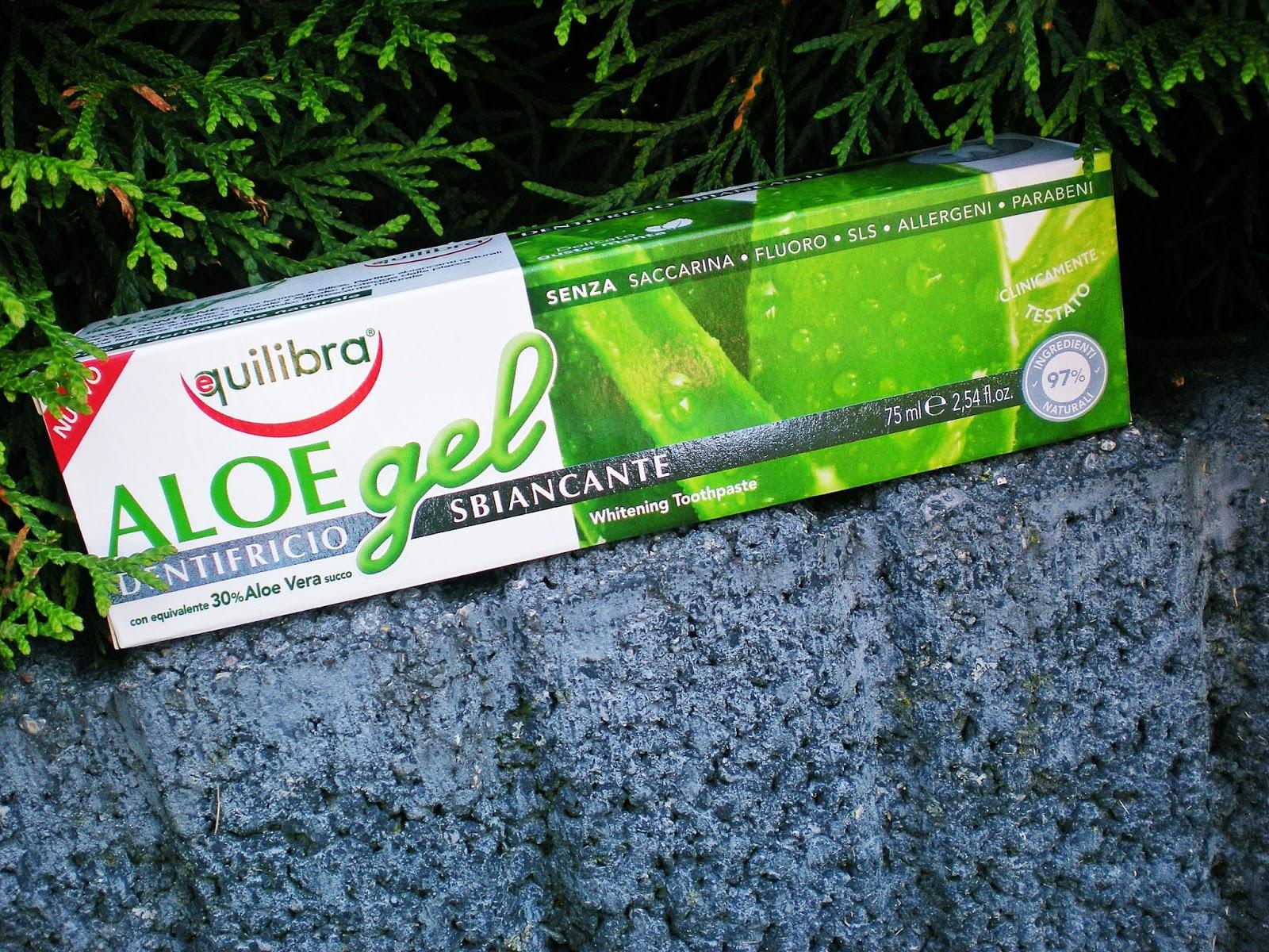 Equilibra - Pasta do zębów wybielająca bez fluoru - żel aloesowy