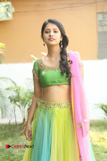 Actress Nikitha Bisht Stills in Lehenga Choli at Pochampally Ikat Art Mela Launch  0113.JPG