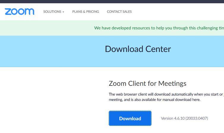 Mendownload Zoom Meeting Dengan Leptop