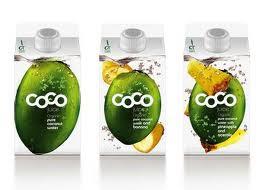 envase y embalaje creativo  para bebida de coco