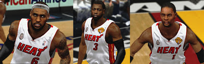 NBA 2K13 Miami Big 3 Cyberface Finals Patch