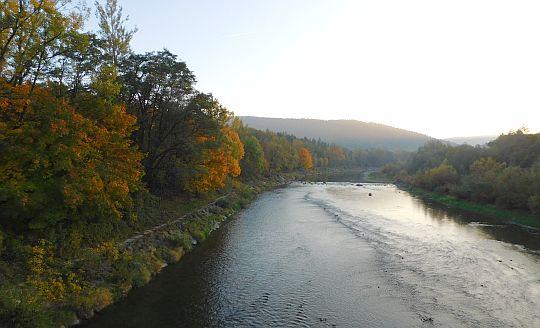 Rzeka Raba.