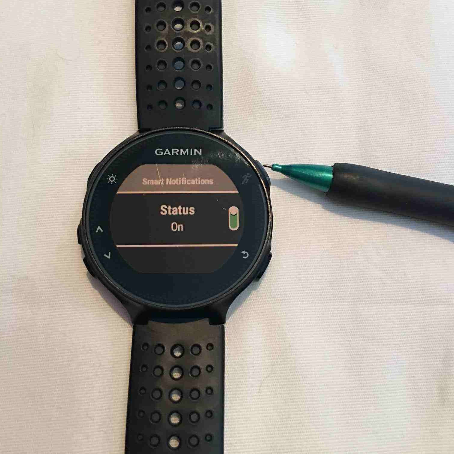 Runnergirl Training: How To: Garmin Forerunner 235 Turn Off