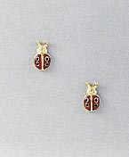 ladybug earrings post