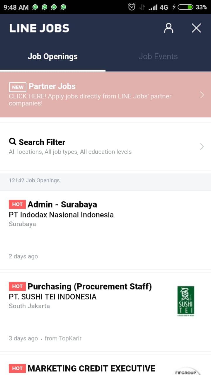 informasi kerja line jobs