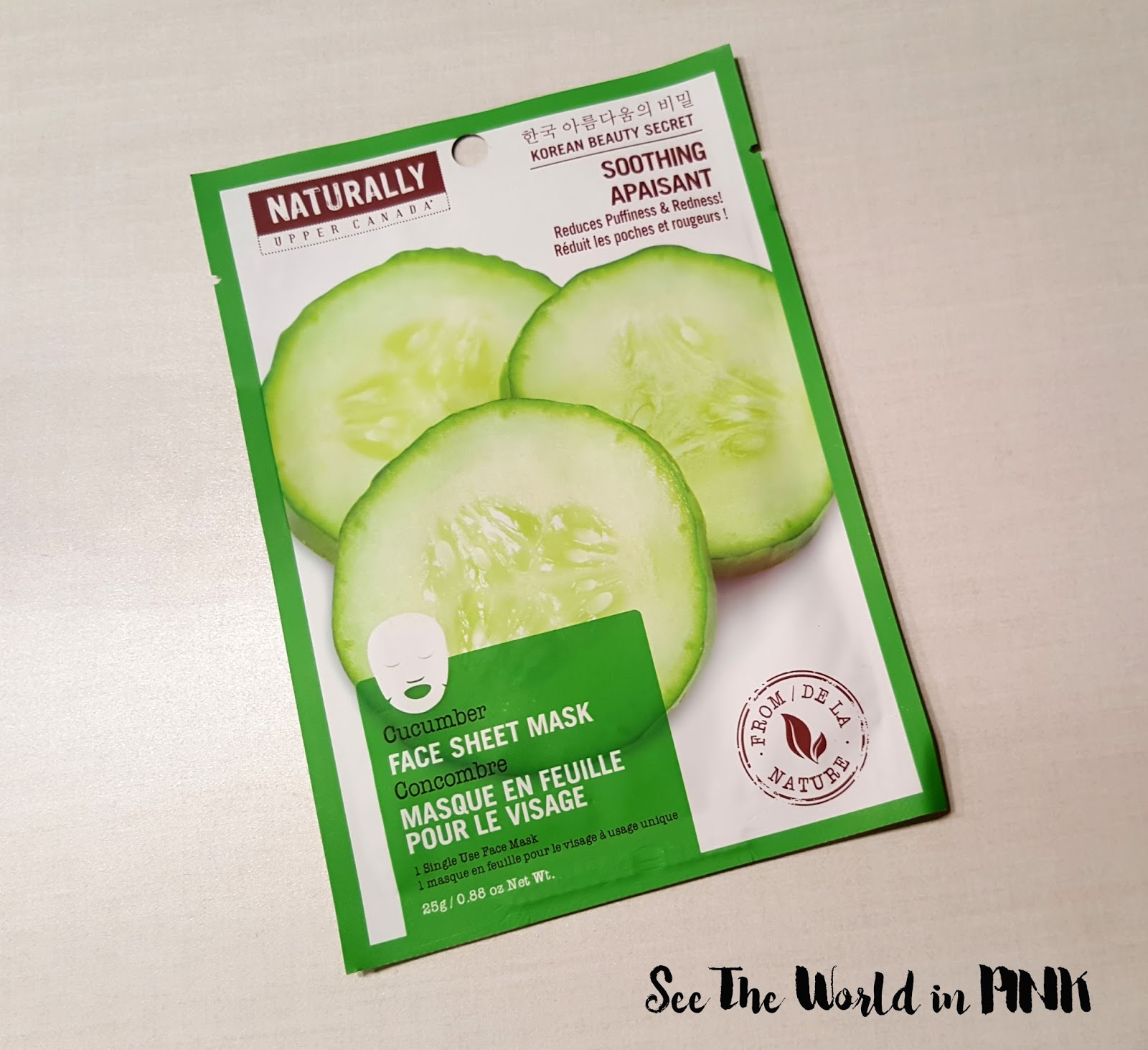 Upper Canada Naturally Face Sheet Mask Soothing Cucumber