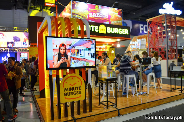 Minute Burger Exhibit Booth