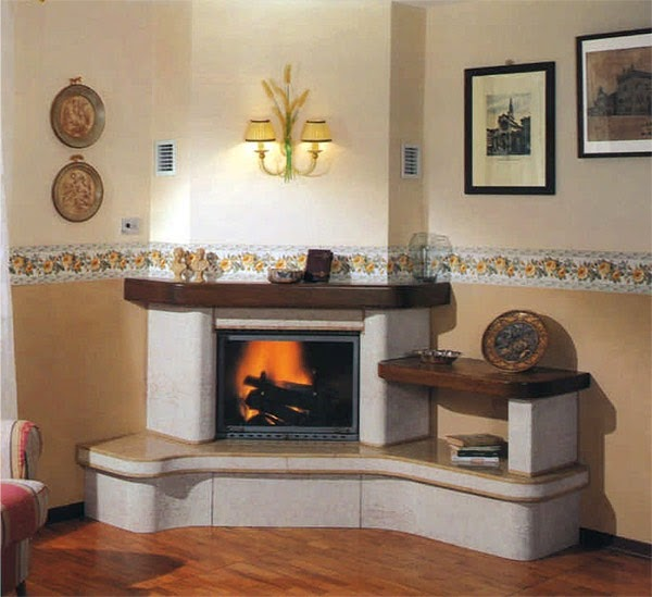 CORNER FIREPLACES: TWO - 2 SIDED GAS FIREPLACE INSERT