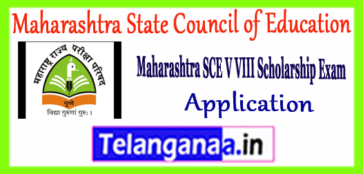 Maharashtra State Council of Education 5th 8th Class Scholarship Application  2017-18