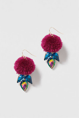 The Best Jewellery Buys from the High Street this SS16 - Topshop - Pom-Pom Drop Earring - £7.50