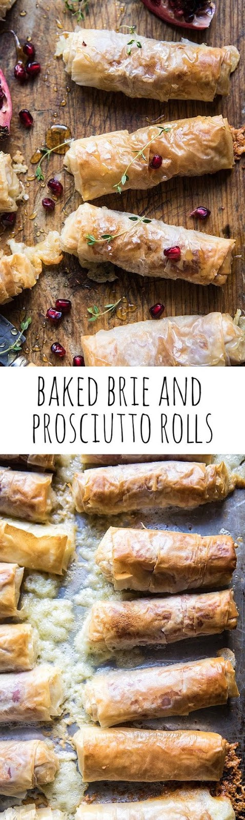 baked brie and prosciutto rolls.