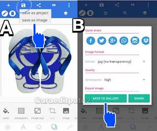 Cara edit foto unik ukir sandal picsay pro