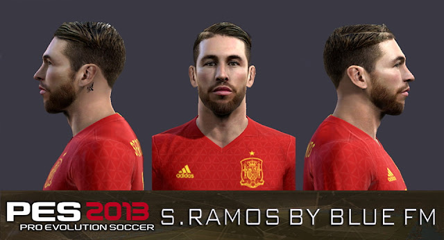 PES 2013 Sergio Ramos Face by BLUE FM