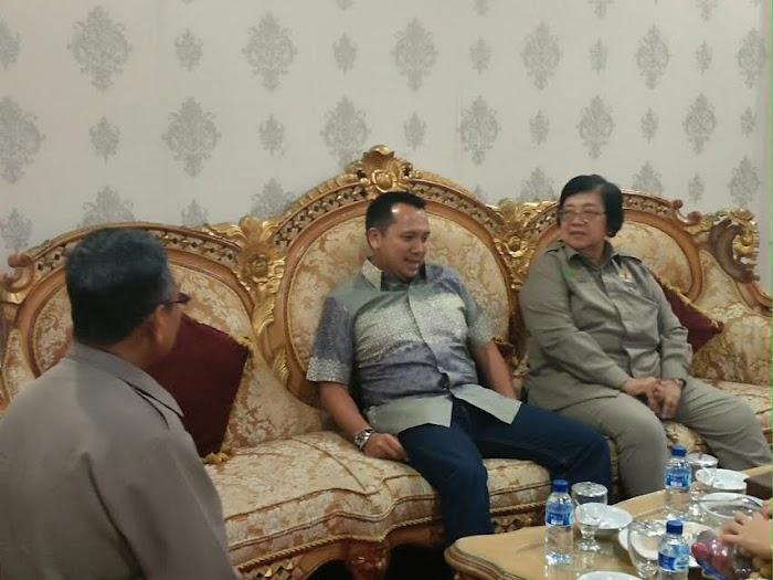 Gubernur Lampung silaturahmi  Dengan  Menteri Kehutanan