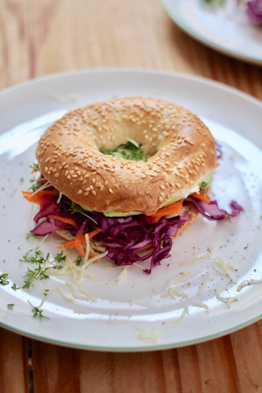 Bagels mit Krautsalat