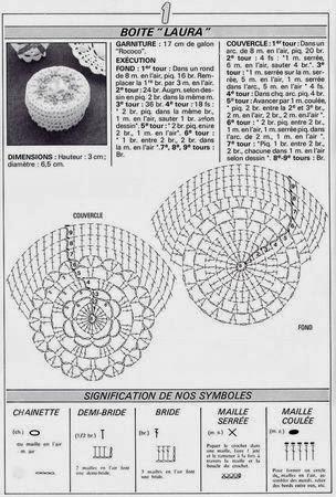 Porta-jóias e Cestas de Crochê Com Gráficos - Miniaturas